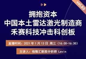 直播间 VOL .80丨拥抱资本,中国本土雷达激光制造商禾赛科技冲击科创板