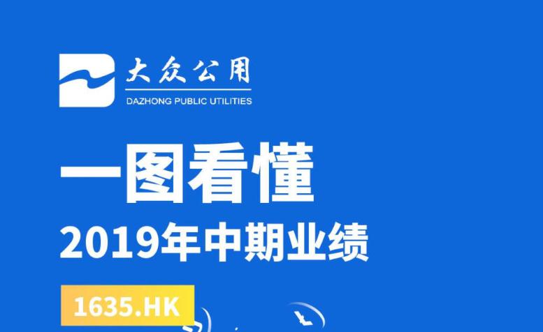 一图看懂大众公用(1635.HK)2019年中期业绩