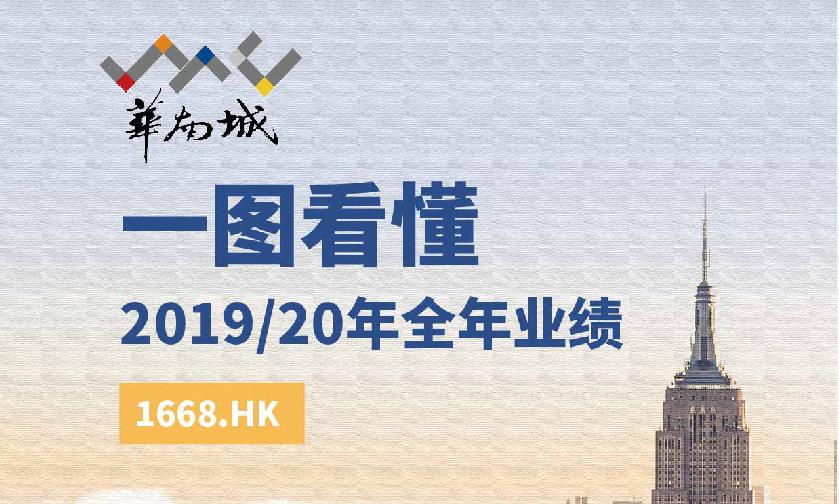 一图看懂华南城(01668.HK)19/20财年业绩